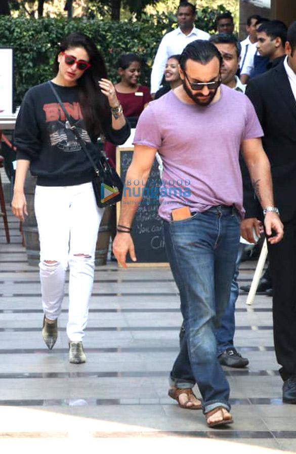 Kareena Kapoor Khan and Saif Ali Khan snapped post lunch at Yauatcha, BKC (2)