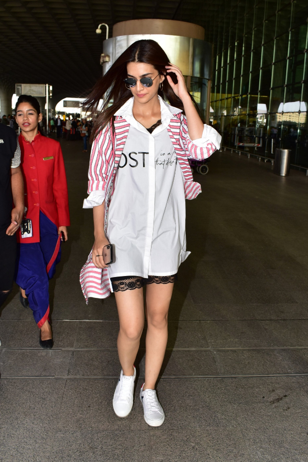 Kriti Sanon in Exhale and Jodi Life at the airport for Luka Chuppi promotions (1)