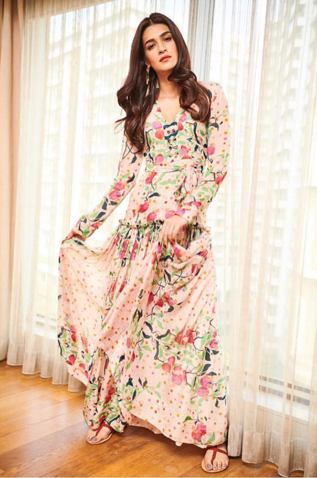 Slay Or Nay: Kriti Sanon In A Roopa Maxi Dress For Luka Chuppi Promotions