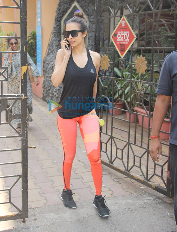 Malaika Arora spotted outside the gym in Bandra