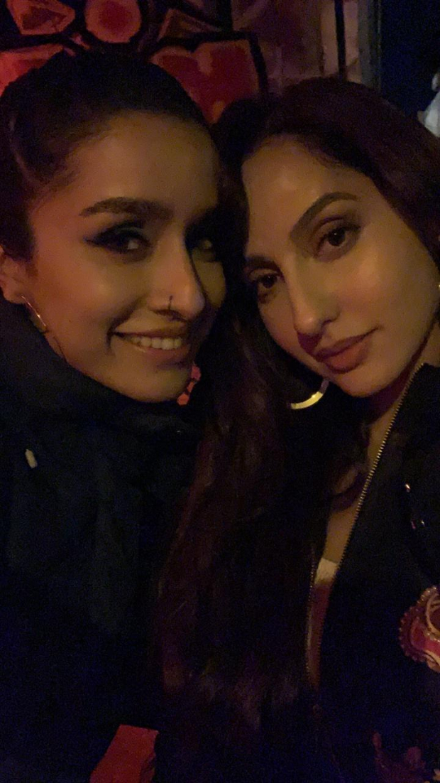PHOTO ALERT: Street Dancer 3D ladies Shraddha Kapoor and Nora Fatehi bond with each other on the sets in London