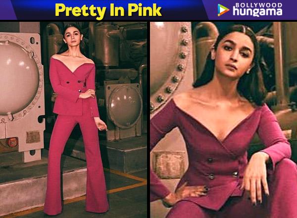 Pretty in Pink - Alia Bhatt in Safiyaa for Gully Boy promotions in Delhi (Featured)