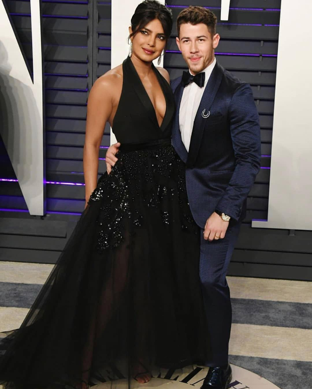 Priyanka Chopra in Elie Saab Haute Couture for Vanity Fair Oscar 2019 after party (4)