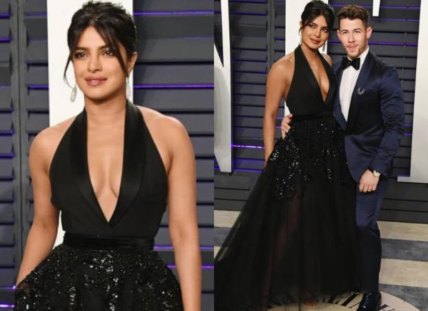 Priyanka Chopra in Elie Saab for Vanity Fair Oscars 2019 after party (Featured)