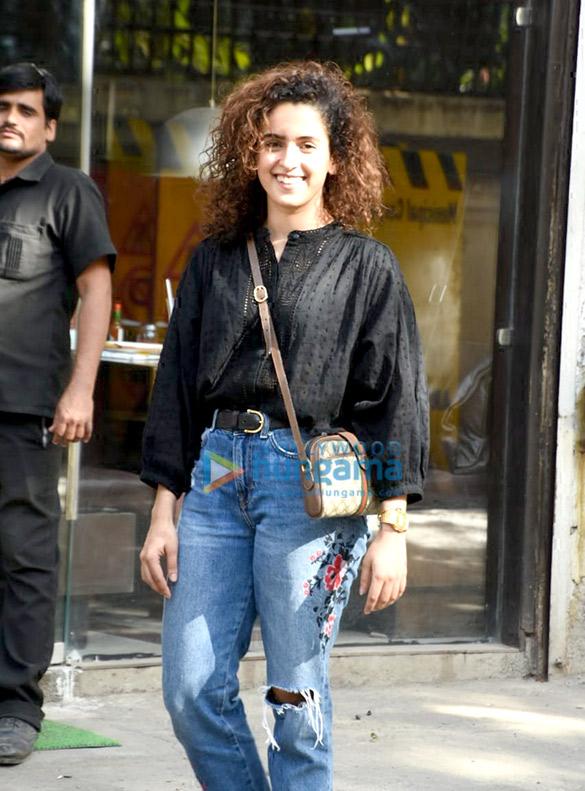 Sanya Malhotra spotted at Silver Beach Cafe, Juhu