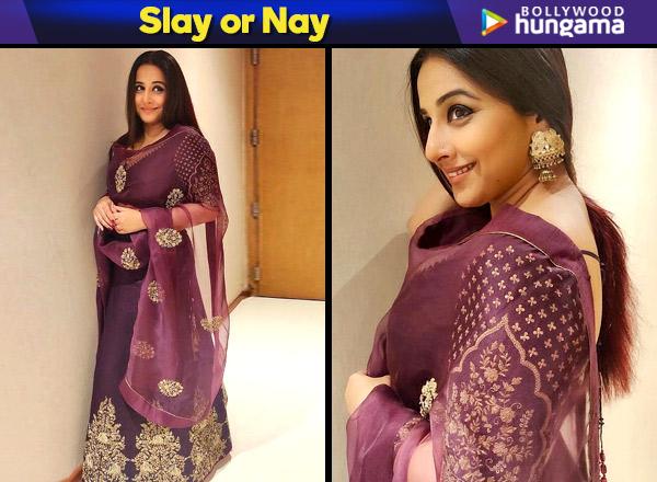 Slay or Nay - Vidya Balan in Lajjoo C ensemble for TSR TV 9 National Film Awards (Featured)