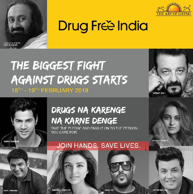 Varun Dhawan, Sanjay Dutt and other Bollywood stars come out in support of Sri Sri Ravi Shankar's campaign Drug Free India