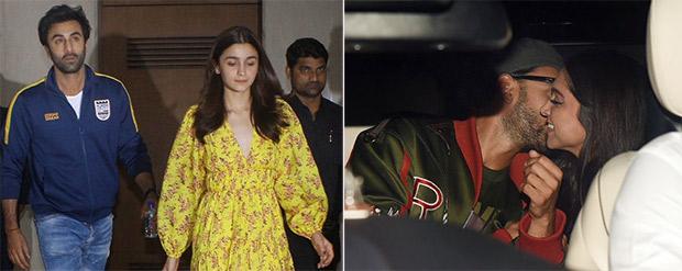 V-day 2019: Deepika Padukone – Ranveer Singh Get Cozy, Ranbir Kapoor-alia Bhatt Have A Major Showdown Before Gully Boy Screening (see Pics And Videos)