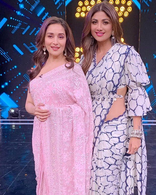 Fangirl Moment! When Dhadkan girl Shilpa Shetty swooned over Dhak Dhak actress Madhuri Dixit on the sets of Super Dancer 3
