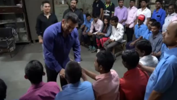 After Bharat wrap up, Salman Khan spends quality time with visually impaired people
