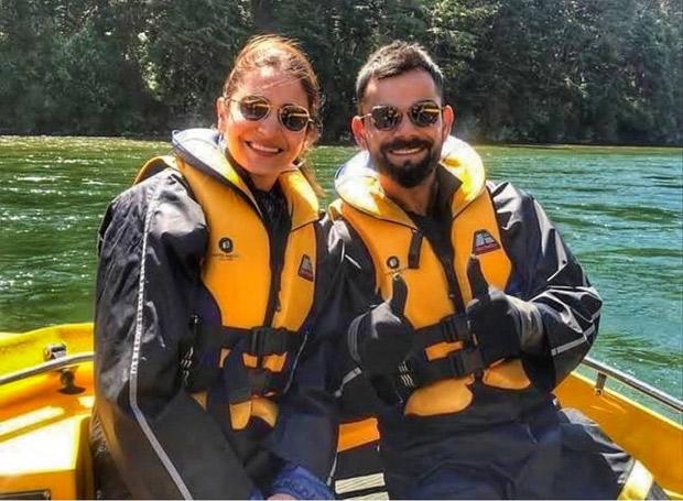 Anushka Sharma and Virat Kohli indulge in cute PDA during a boat ride