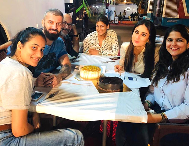Kareena Kapoor Khan enjoys this 'sweet' moment with her team after wrapping up a song on the sets of Good News