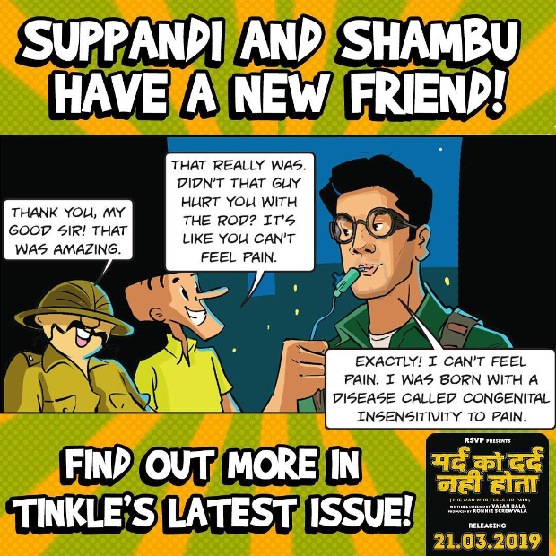 Makers of Mard Ko Dard Nahi Hota release Tinkle poster featuring Suppandi, Shambu and Surya