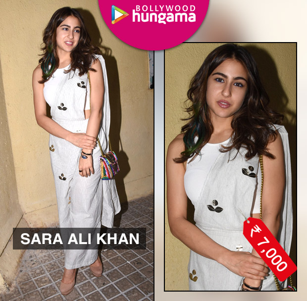Sara Ali Khan in Aapro Label pant saree for Sonchiriya promotions (4)