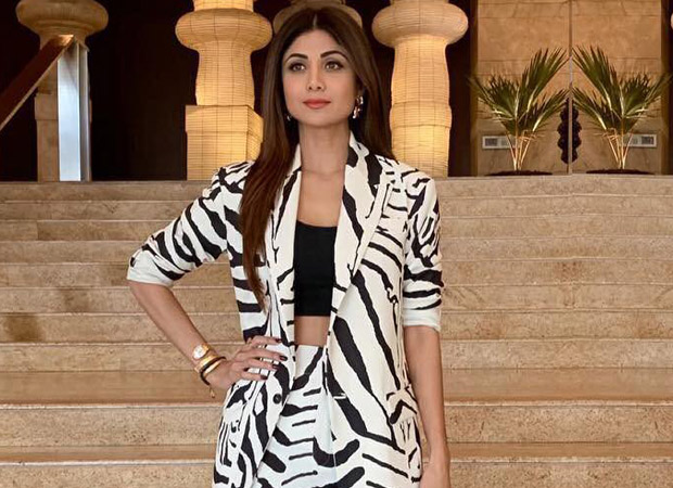 Shilpa Shetty rocks the zebra print pant suit like no one else can!