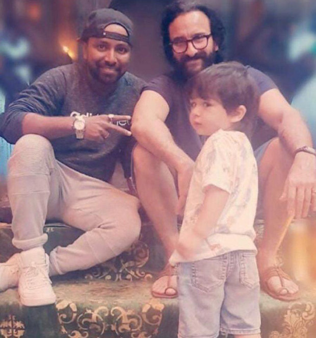 Taimur Ali Khan once again wins hearts with his CUTENESS as he visits his father Saif Ali Khan on the sets of his shoot!