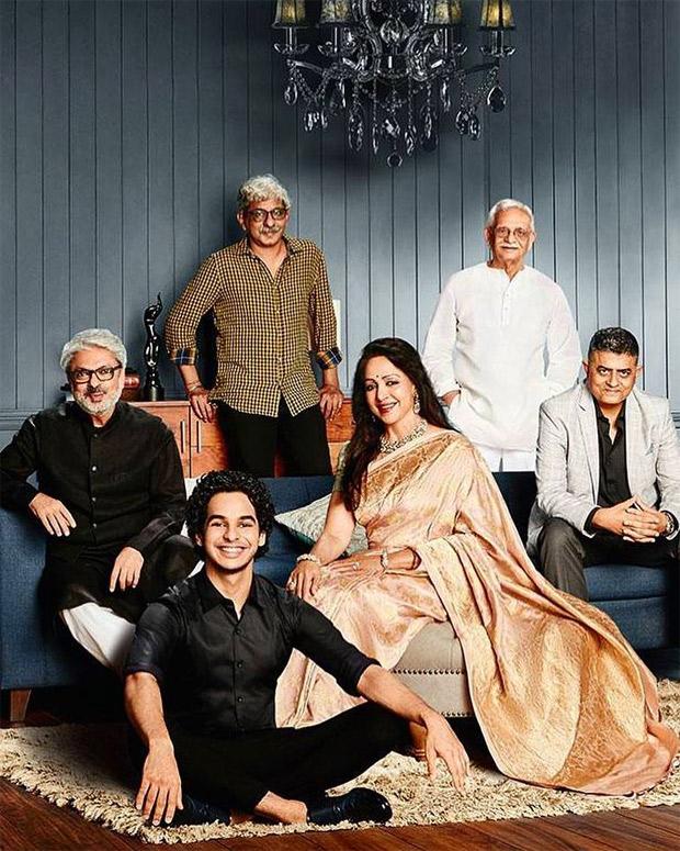 Ishaan Khatter feels 'honoured' to share the frame with Sanjay Leela Bhansali, Hema Malini, Sriram Raghavan, Gulzar and Gajraj Rao
