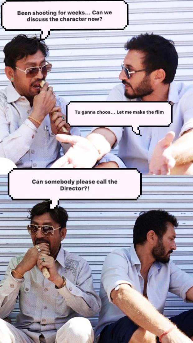 Angrezi Medium: Irrfan Khan relishes sugarcane with Homi Adajania, shares a hilarious meme