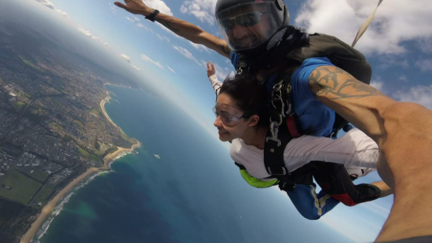 Nushrat Bharucha has the time of her life as she experiences skydiving in Australia