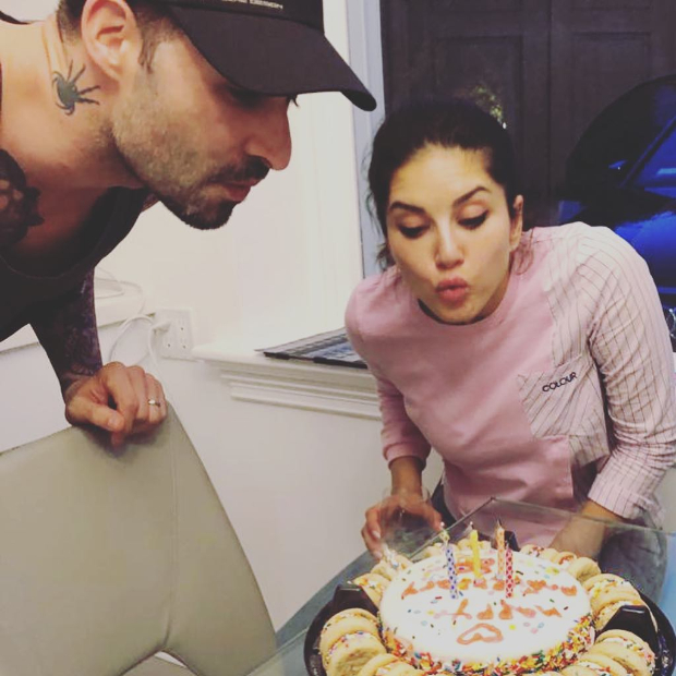 Sunny Leone and Daniel Weber receive a special surprise from their daughter Nisha on their wedding anniversary