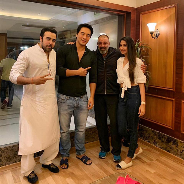 Sanjay Dutt WISHES luck to debutant Rinzing Denzongpa, leading lady Malvika Raaj and his own nephew Nilesh Sahay in this post!