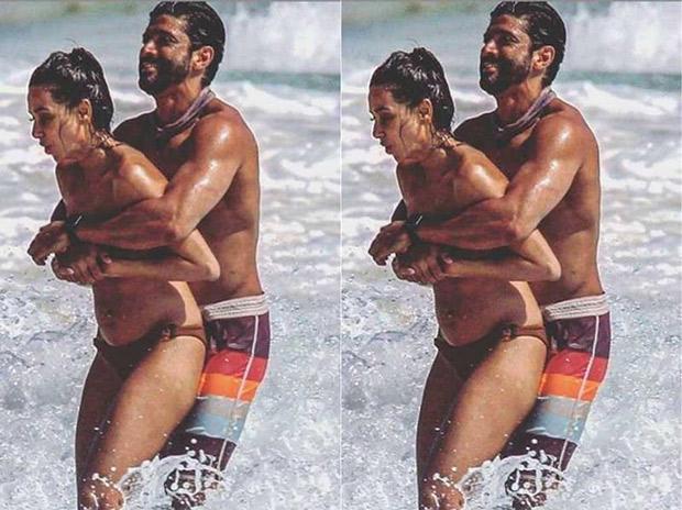 HOT! These photos of Farhan Akhtar and Shibani Dandekar are all about beach romance