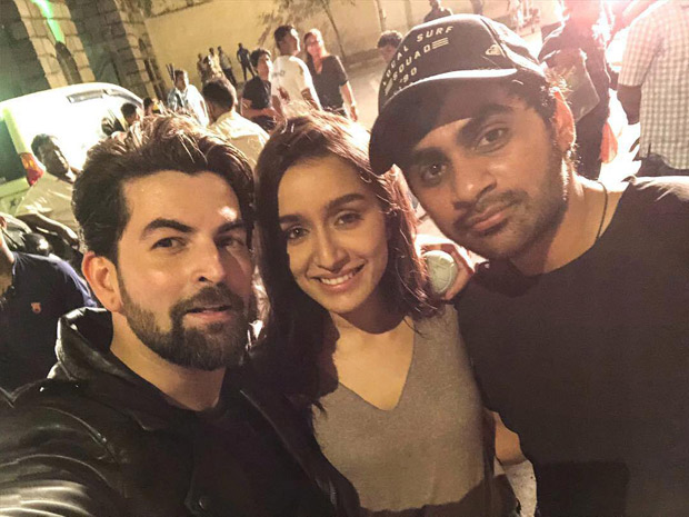 Saaho: Neil Nitin Mukesh Shares A Photo With Shraddha Kapoor And Director Sujeeth From The Sets Of Prabhas Starrer