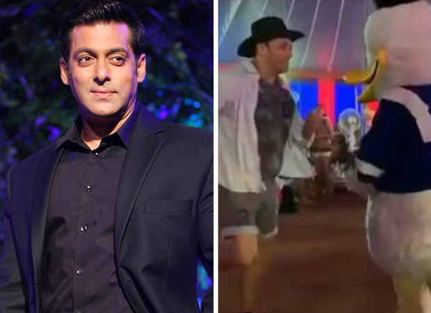 CUTE! Superstar Salman Khan dances with Donald Duck at the birthday party of nephew Ahil Sharma [watch video]