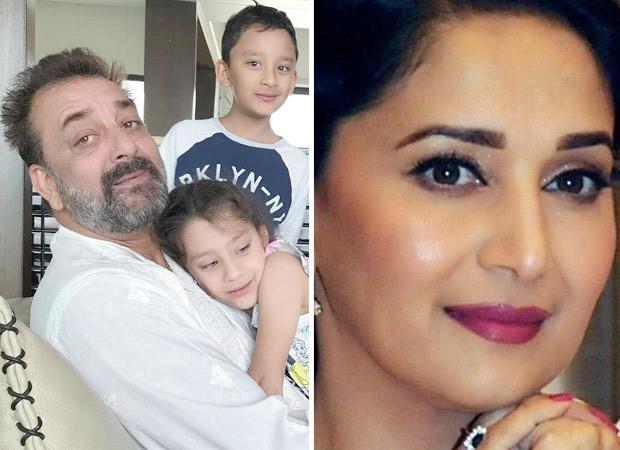 When Sanjay Dutt's KIDS met Madhuri Dixit on the sets of Kalank!