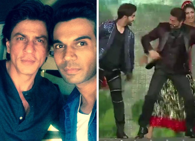 Shah Rukh Khan joins Rajkummar Rao on stage for 'Chaiyya Chaiyya' and it was the Stree actor's dream-come-true moment [watch video]