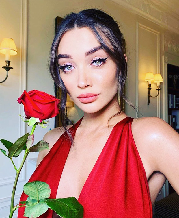 Baftas 2019: Pregnant Amy Jackson Looks Ravishing In Crimson Red Gown