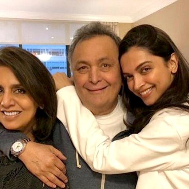 Deepika Padukone pays a visit to Rishi Kapoor and Neetu Kapoor in New York