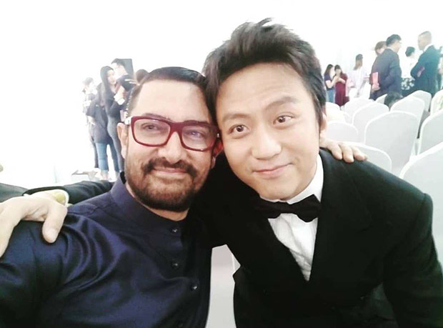 Photo: Aamir Khan Clicks A Selfie With Chinese Superstar Deng Chao