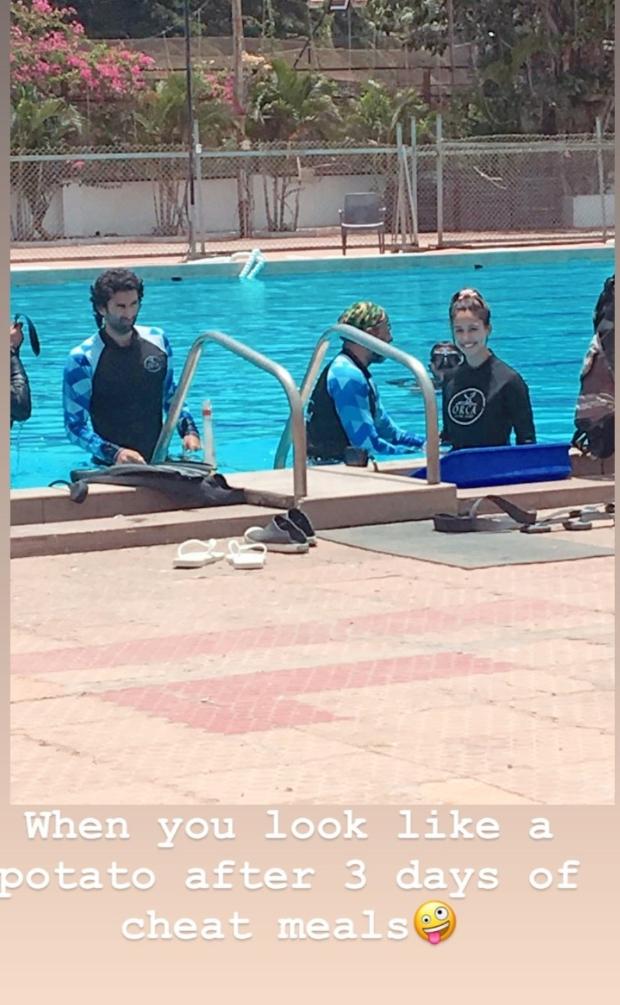 WATCH: Malang stars Disha Patani and Aditya Roy Kapur train in swimming pool