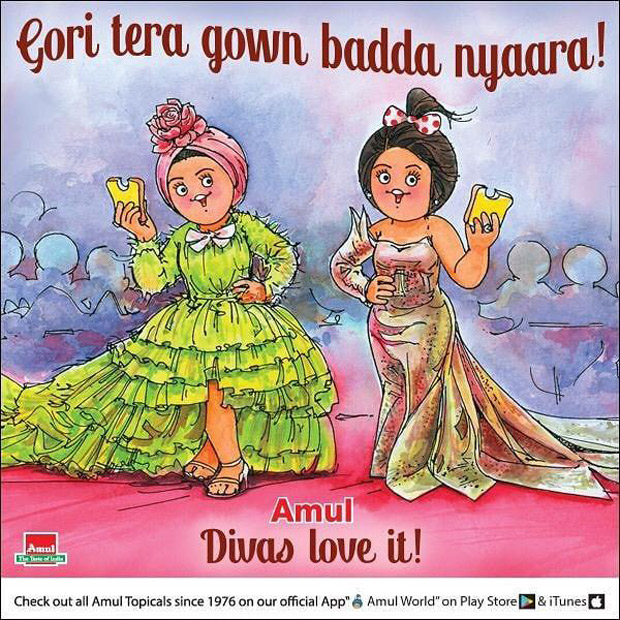 Cannes 2019: Amul gives its take on Deepika Padukone and Aishwarya Rai Bachchan walking the red carpet in a gown, albeit in its own STYLE!