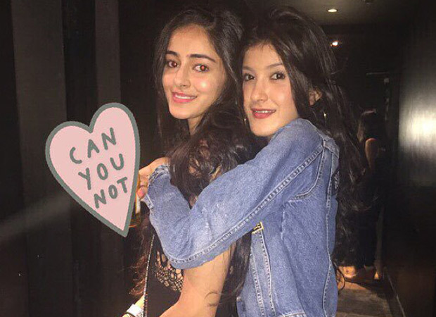 Student Of The Year 2 - Shanaya Kapoor writes a heartfelt note wishing her bestie Ananya Panday for her Bollywood debut
