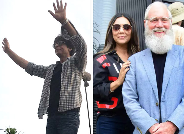 PHOTOS: Shah Rukh Khan greets massive crowd post shoot, Gauri Khan spends time with David Letterman