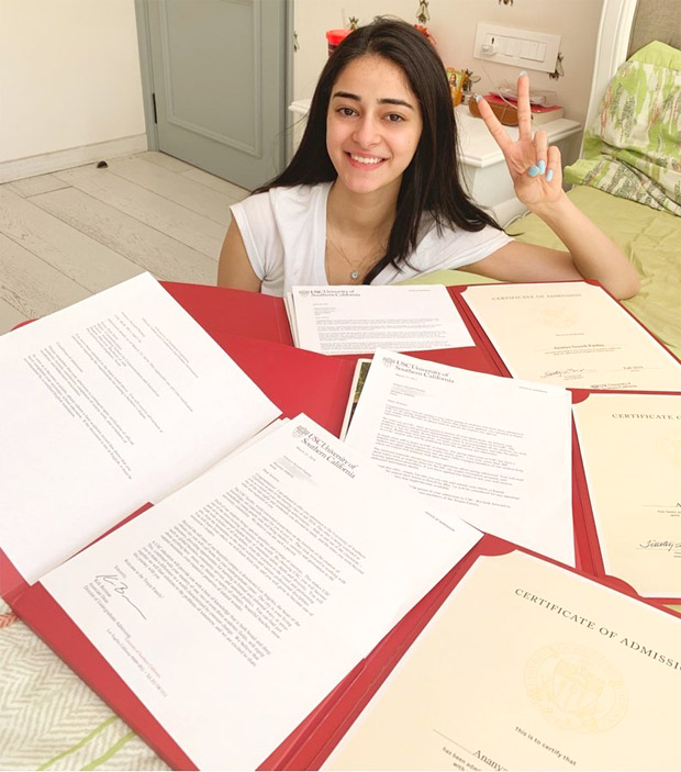 Student of the Year 2 actress Ananya Panday sets the record straight with USC acceptance letter!