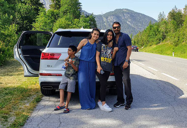 FAMILY GOALS! Ajay Devgn and Kajol take off on a road trip with kids Nysa and Yug and it looks like an onset of a dream vacation!