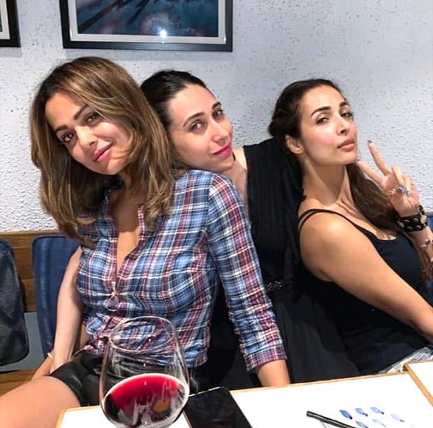 Karisma Kapoor parties with besties Malaika Arora and Amrita Arora and their photos are all about girl-gang fun!
