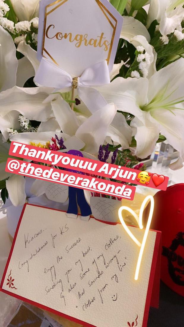 Vijay Deverakonda sends a lovely message to Kiara Advani over the success of Kabir Singh