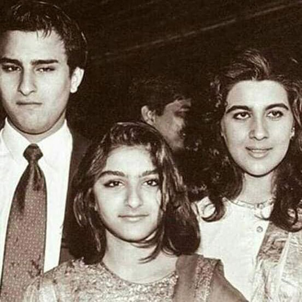 FLASHBACK FRIDAY: This RARE photo of Soha Ali Khan posing with brother Saif Ali Khan and former sister-in-law Amrita Singh is nostalgic!