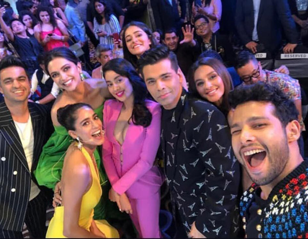 Woah! This photo of Deepika Padukone, Ananya Panday, Janhvi Kapoor, Karan Johar and others bonding at Grazia Millennial Awards 2019 is PRICELESS!