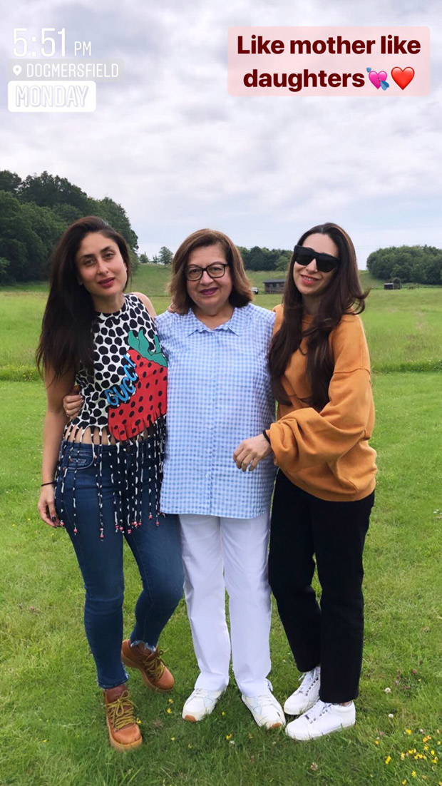 Karisma Kapoor shares the perfect 'mother-daughters' photo with Kareena Kapoor Khan and Babita from their London trip!