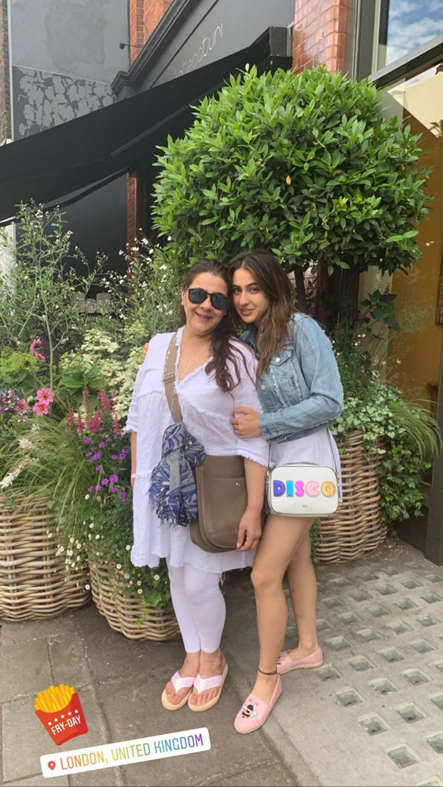 Here's How Sara Ali Khan And Amrita Singh Are Enjoying Some Mother-daughter Time In London!