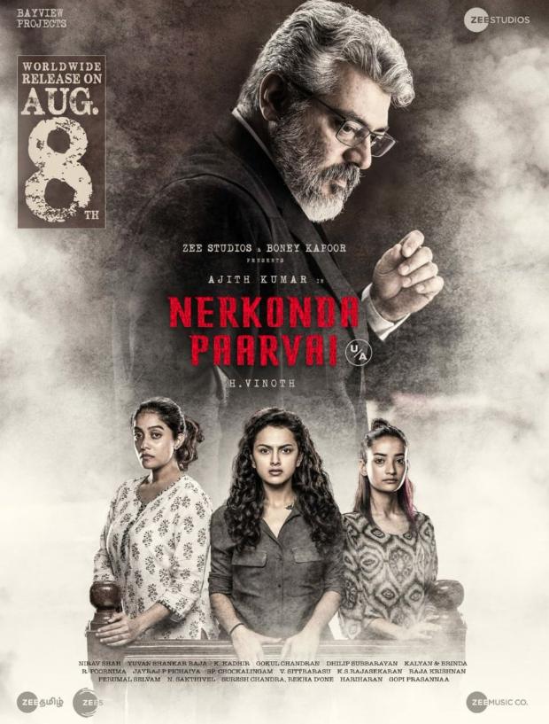 Boney Kapoor's Nerkonda Paarvai starring Ajith gets U/A certificate by CBFC