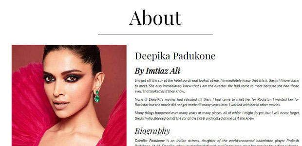 Imtiaz Ali shares his sweetest memories with Deepika Padukone for a testimonial on her website