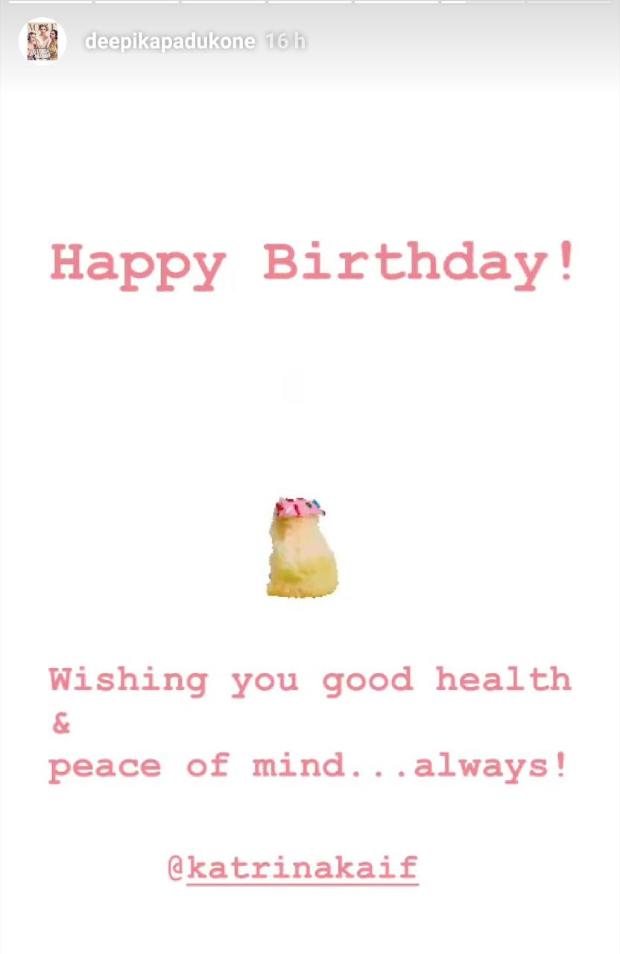 Deepika Padukone sends birthday wishes to Katrina Kaif