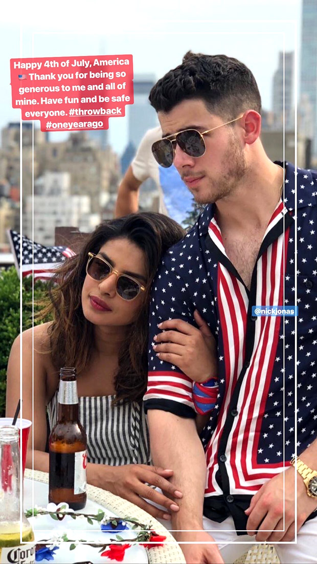 Happy 4th Of July: Priyanka Chopra And Nick Jonas Celebrate The Grand Day With Memories From Last Year