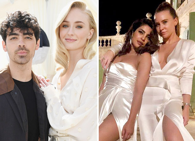 Joe Jonas and Sophie Turner walk down the aisle in their first wedding photo, Priyanka Chopra sizzles in all white during pre-wedding dinner